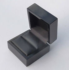 1 x gloss black luxury ring gift box for diamond engagement silver jewellery
