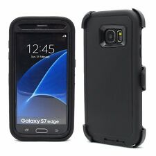 For Samsung Galaxy S7 Edge NEW Outer Defender Case w/Clip & Screen Protector
