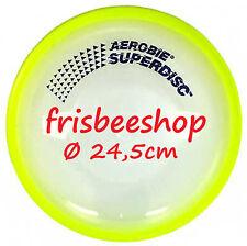 NG - AEROBIE SUPERDISC Frisbee mit GUMMIRAND GELB - SPAREN mit Kombiversand