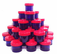 28 Small Purple Jars Red Caps 1oz Container 2tbl Spice Shreds DecoJars 4304 USA