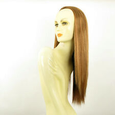 DT Half wig HairPiece extensions long straigh dark blond copper 23.6 :14/g27