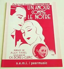 Partition sheet music LUCIENNE BOYER : Un Amour Comme le Nôtre * 30's
