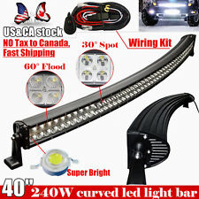 40INCH 240W Curved Led Work Light Bar Flood Spot Offroad 4X4 truck Jeep Ford SUV