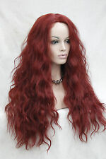 hot quality good fashion long Wavy synthetic Red Lace Front Wig Wavy wigs