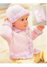"""Baby Jacket Hat Blanket Bootees Mitts Knitting Pattern PATTERN ONLY 16-24"""" DK"""