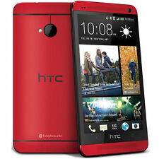 NEW HTC One M7 - 32GB - Red (Unlocked)  UK/EU Model LTE  Android