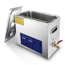 Stainless Steel 6L Liter Industry Heated Ultrasonic Cleaner Heater w/Timer 110V