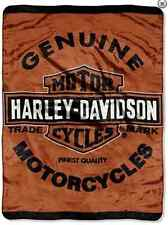 Harley Davidson Genuine Officially SUPER SOFT WARM THROW BLANKET bike motorcyle