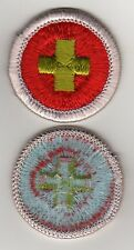 First Aid Badge Type H, Blue Back Version (1972 - 2002), Mint!