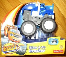 Blaze and the Monster Machines SLAM & GO CRUSHER BLUE TRUCK NEW 2015