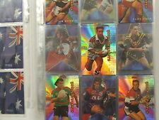 1996 Rugby League Series 1 set of 300 cards & 28 insert/chase cards