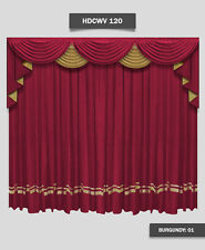 Saaria HDCWV-120 Home Decorative Movie Theater Screen Curtains Drapes 12'W x 8'H