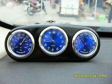 3in1 Car Indoor Quartz Clock time Thermometer Temperature Moisture fluorescent