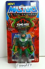 MOTU, King Hiss, Masters of the Universe, MOC, carded, figure, He Man, sealed