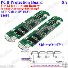 4S 8A BMS Protection Board For 4 Packs 14.8V 18650 Li-ion Lithium Battery Cell