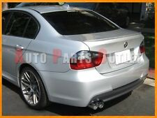 #354 Titan Silver M3 Look Trunk Spoiler Lip for BMW E90 3-Series Sedan 2005-2011