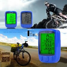 LCD Cycling Bike Bicycle Computer Odometer Speedometer Waterproof+ ILOE