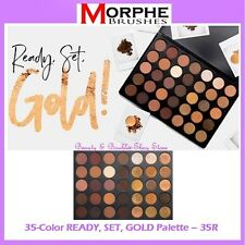 NEW Morphe Brushes 35-Color READY SET GOLD Eye Shadow Palette 35R FREE SHIPPING