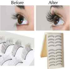 10 Pairs Fashion Beauty Makeup Handmade False Natural Long Eyelashes Sparse