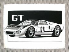 SUPER FORD MAGAZINE THE FORD GT-40 ORIGINAL ONE OFF ART BOARD