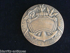 grande médaille bronze LIGUE MARITIME ET COLONIALE années 25