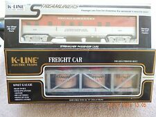 K - LINE ELECTRIC TRAINS, LOT OF 2, NEW IN BOX.