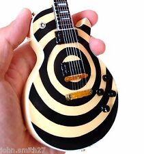 Zakk Wylde Black Label Society Cream Bullseye Miniature Guitar Ozzy Osbourne