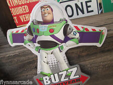 Disney TOY STORY Buzz Lightyear Embossed Metal Sign to Infinity and Beyond spac