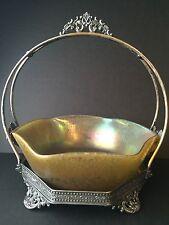 Beautiful Iridescent Art Glass Centerpiece Bowl Signed Loetz Austria