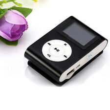 New Mini USB Clip MP3 Player LCD Screen Support 32GB Micro SD TF Card Black