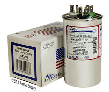 40 + 5 uF MFD x 370 or 440 VAC Round Run Capacitor USA2235 - Made in the USA