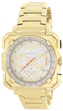 Aqua Master Mens Pearl Dial Gold Tone Steel Bracelet Diamond Watch W#355