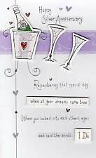 Happy 25th Silver Anniversary Greeting Card Second Nature Poem Corner Cards