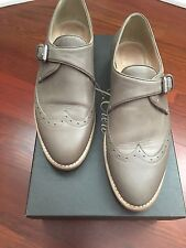 JCrew Collection Perforated Monk Strap Loafers, Wet Cobblestone, 5.5