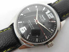 VINTAGE HMT PILOT HAND WINDING GENTS BLACK DIAL PARASHOCK WRIST WATCH RUN ORDER