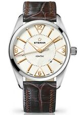 New Eterna KonTiki Date Scratch-resistant, anti-reflective sapphire crystal