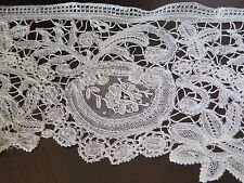 Vtg Antique Late 19th Century Brussels Point de Gaze Needle Lace Duchesse Trim