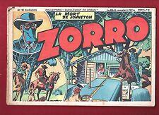 Collection Supplément de Zorro n°21. La mort de Johnston. Oulié.