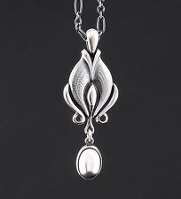 GEORG JENSEN Sterling Silver Pendant Of The Year 2012 w. Silverball. New.
