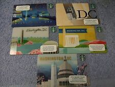 Starbucks Gift Card. WASHINGTON DC. all 5 years. Mint.