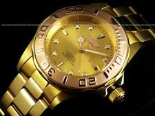 NEW Invicta Scalloped Japanese Automatic Professional Diver 18K Gold IP Watch