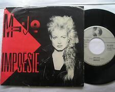 MARJO (CORBEAU) Impoesie P/S CANADA QUEBEC FRENCH  ROCK 1986 Vinyl Pic sleeve