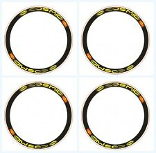 MAVIC CARBONE SSC YELLOW REPLACEMENT BIKE RIM DECAL STICKERS SET OF 8 stickers