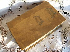 VINTAGE HAND MADE LEATHER BOUND BOOK STYLE JEWELLERY SEWING BOX SECRET BOX