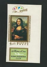 Hungary: Scott 2280 painting monalisa imperforate with labels mint NH . HU35