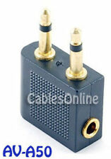 3.5mm Headphone Audio Airline Adapter, Gold-Plated