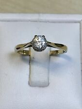 LOVELY 9 carati oro giallo Solitaire Ring