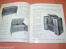 RECORD PLAYER & RADIO CABINETS. LEWIS RADIO. c1950s. ILLUSTRATED. PRICES