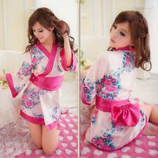 Kimono -UK Seller- Womens Sexy Japanese Cosplay flower babydoll chemise Costume