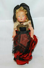 "VINTAGE CELLULOID 4"" GERMAN CATHOLIC JOINTED DOLL WITH CROSS NECKLACE"